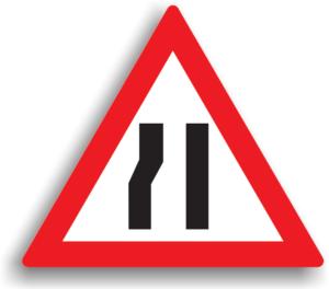 Drum ingustat pe partea stanga